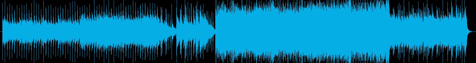 アルペジオとオクターブ奏法のギターロックの再生済みの波形