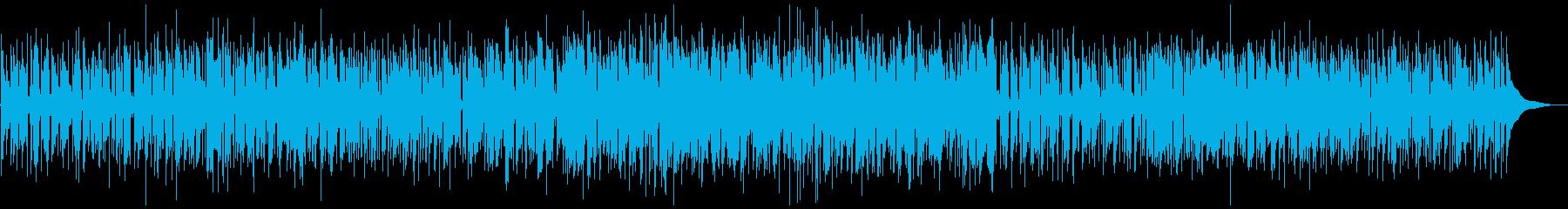お洒落なジャズファンク、ソプラノSAXの再生済みの波形