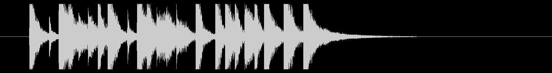 ほのぼの日常、コミカルでルンルンな曲Dの未再生の波形