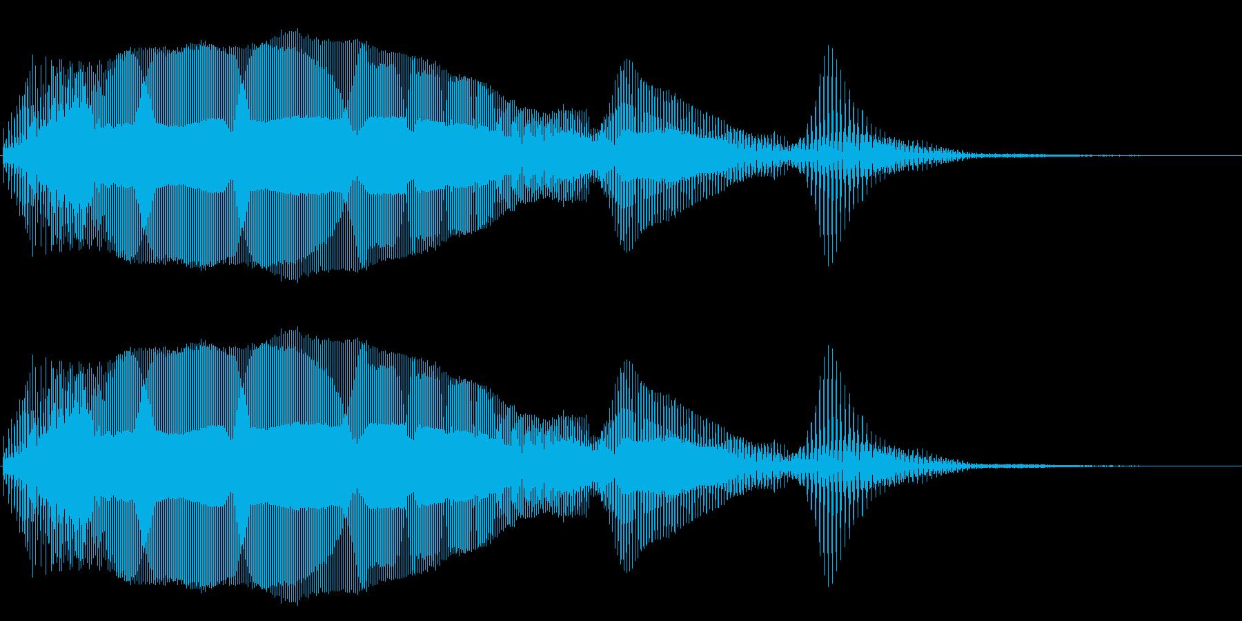失敗 不正解 残念 トランペットの再生済みの波形