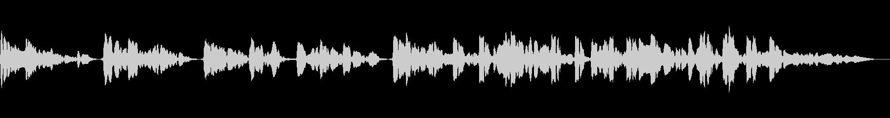 サックスの重奏です。官能的なメロディーの未再生の波形