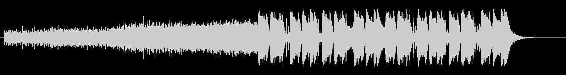 スポーティーな雰囲気の変則ビートの未再生の波形
