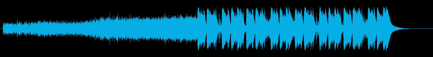 スポーティーな雰囲気の変則ビートの再生済みの波形