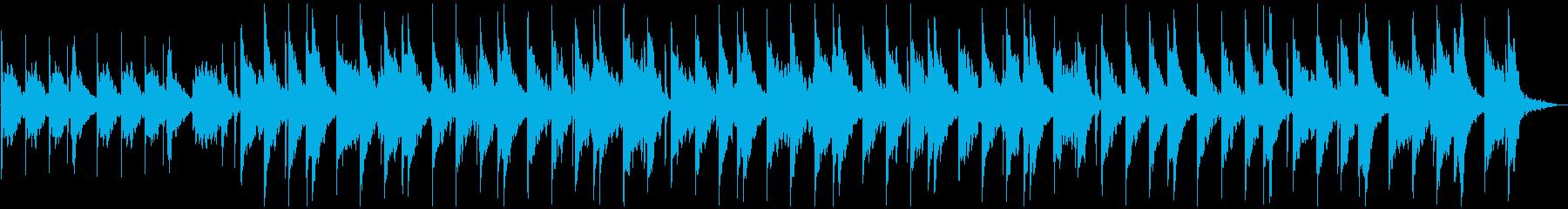 ヒーリングミュージックの再生済みの波形