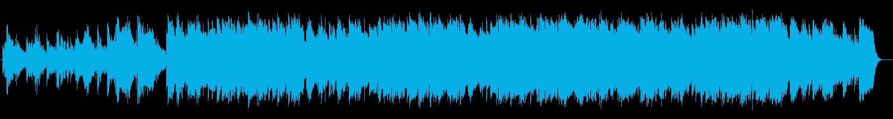 ゆったりと心温まる雰囲気のBGMの再生済みの波形