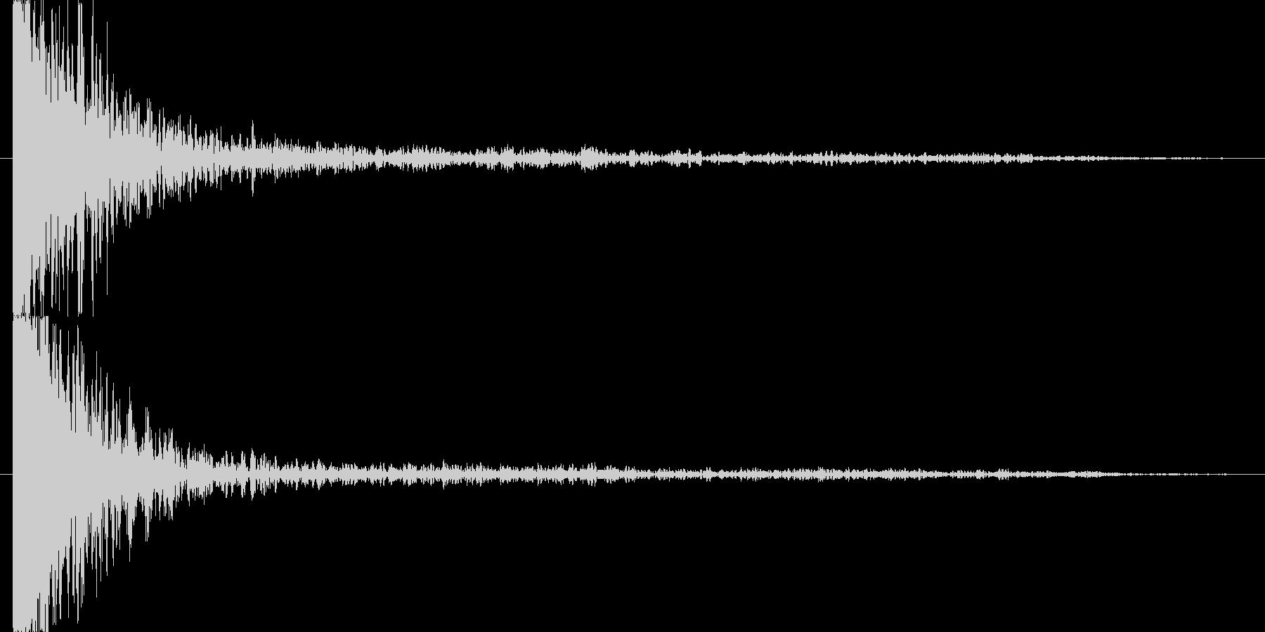 裂ける音の未再生の波形