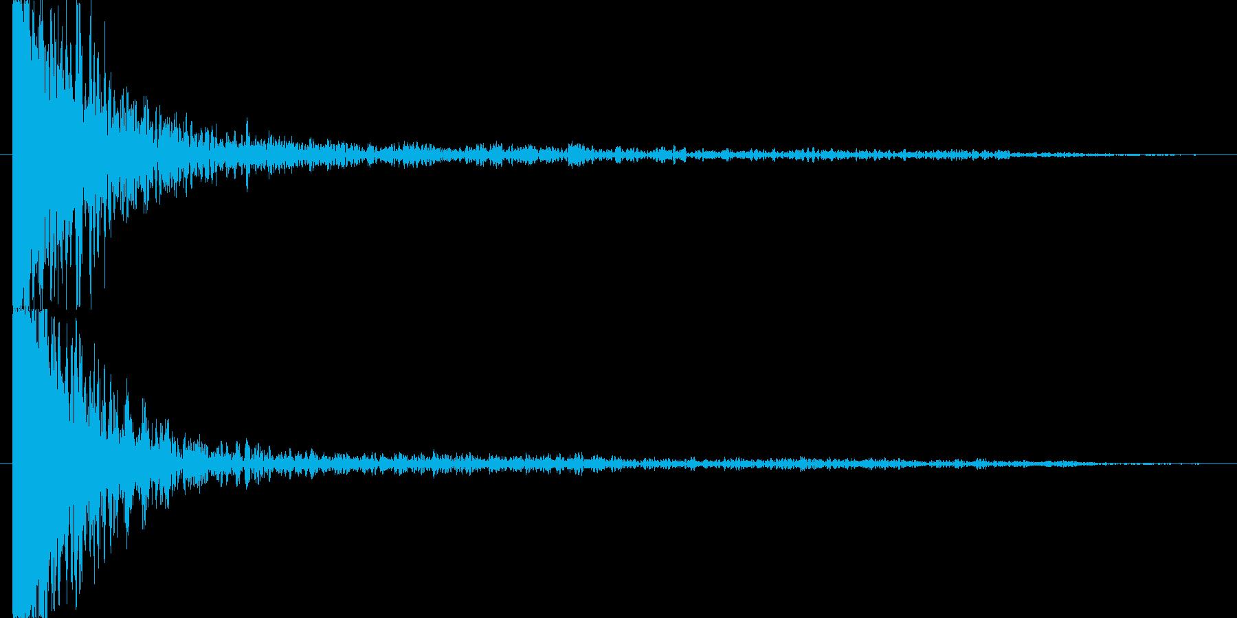 裂ける音の再生済みの波形