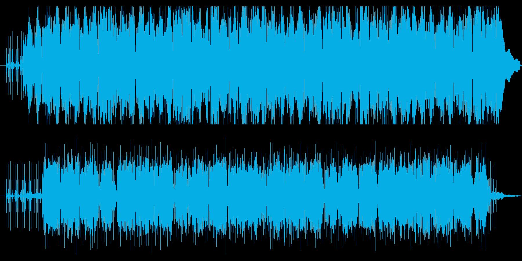 優しいホイッスルの旋律と民俗的なリズムの再生済みの波形