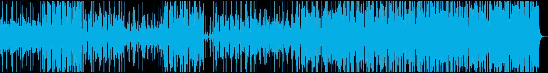 ポップなイントロからサビにオケが入る。の再生済みの波形