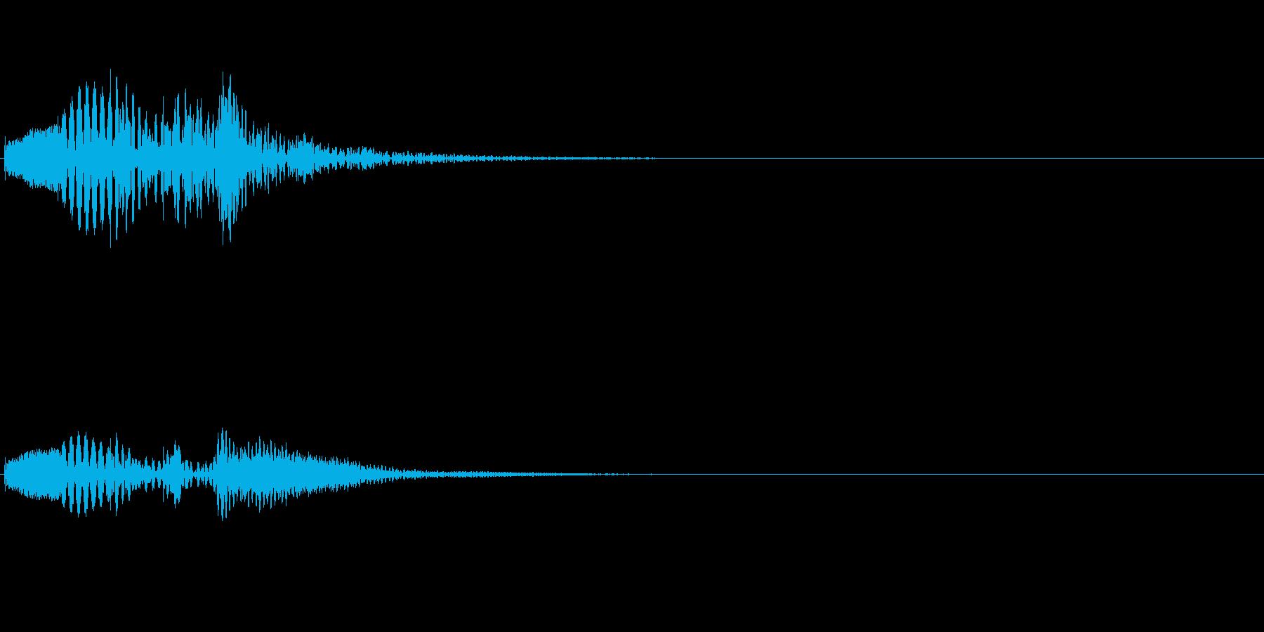 アプリやゲーム、マリンバ、起動音、上昇2の再生済みの波形