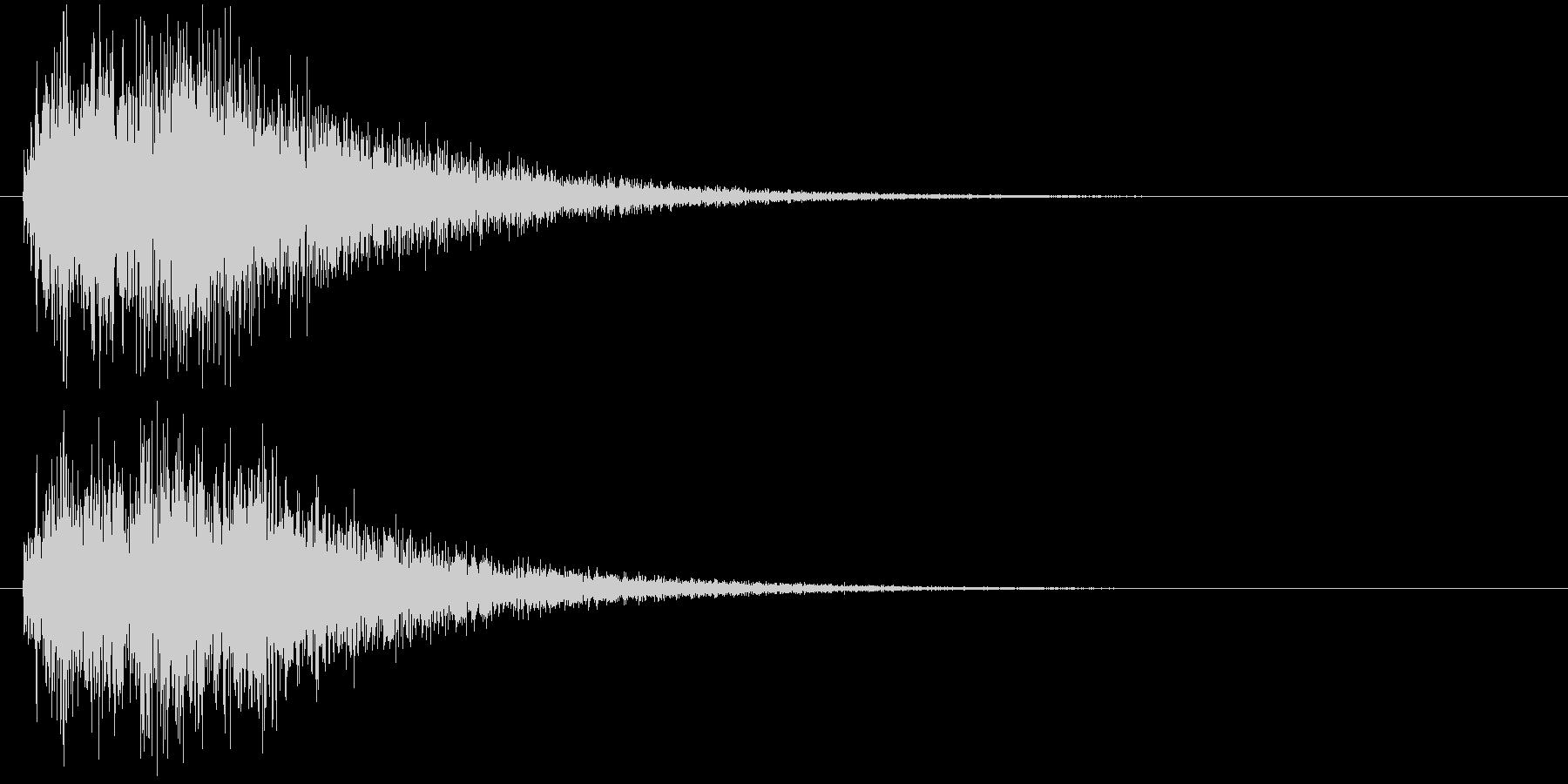 クイズ出題音(ジャジャン!)の未再生の波形