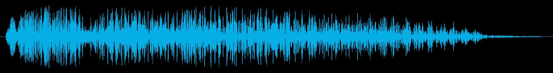 不気味なダンジョン(扉が開く音)の再生済みの波形