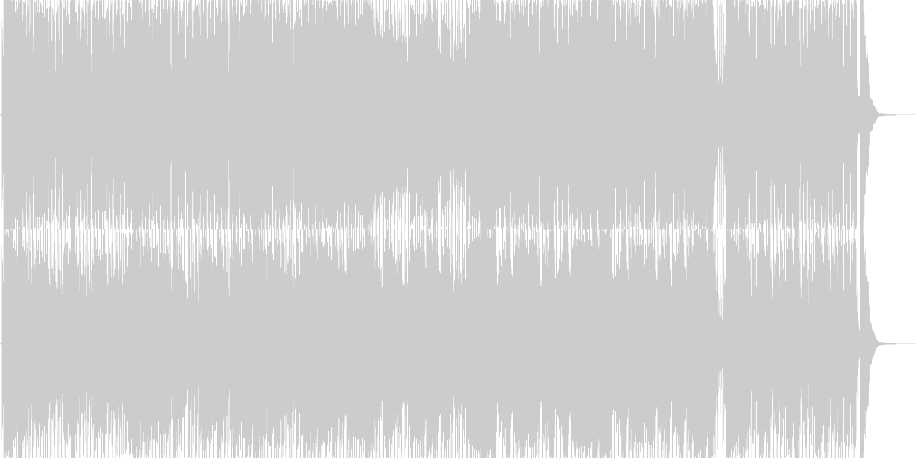 哀愁・秋をイメージしたピアノソロ曲の未再生の波形