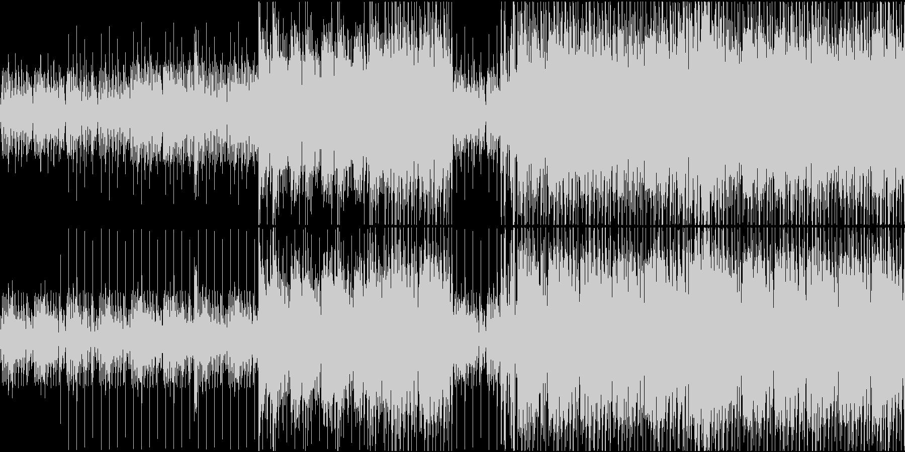 思考を巡らせているようなピアノ系インストの未再生の波形