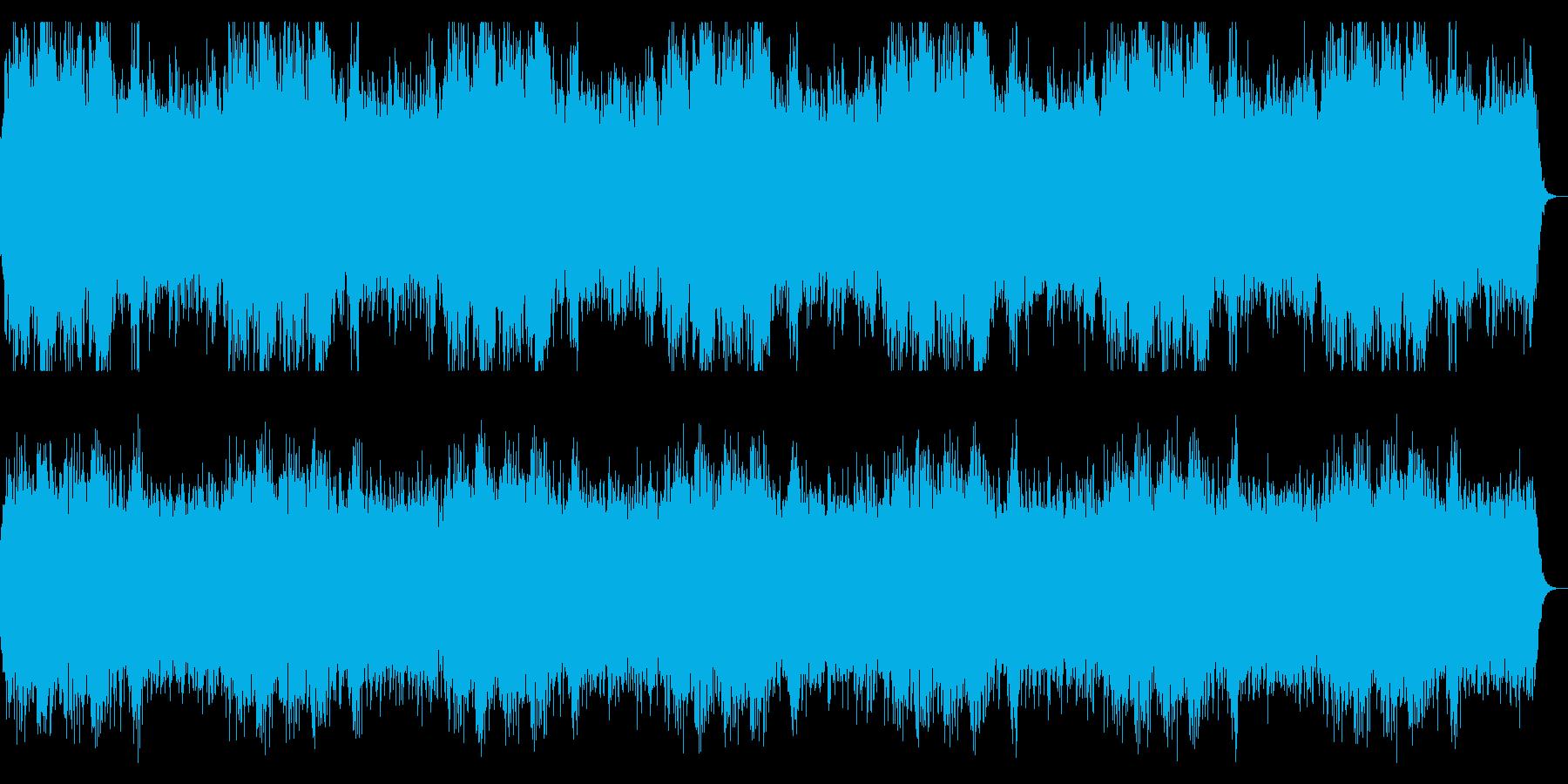 ダークな背景 ホラーな背景の再生済みの波形