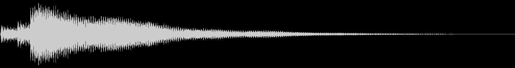 不穏 ポロロン ナイロンギターの未再生の波形
