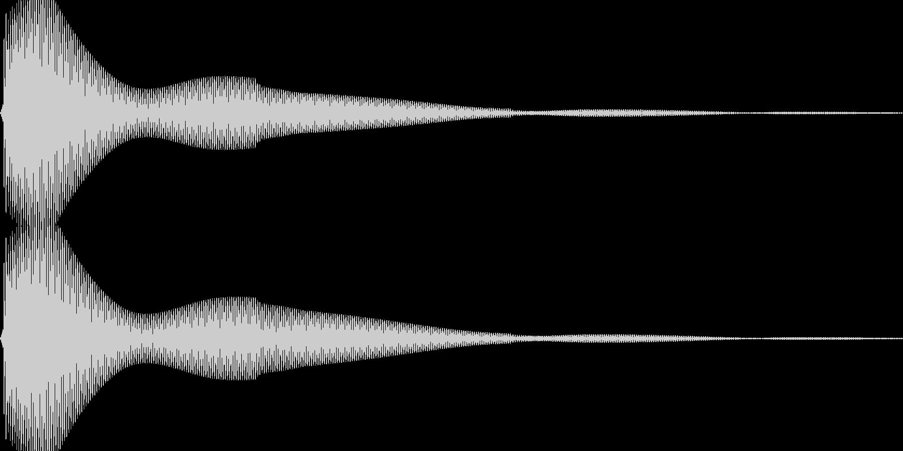 ポンという音です。カーソルやボタンなどにの未再生の波形
