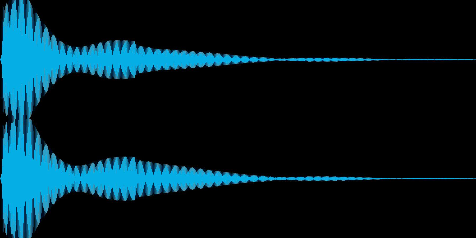 ポンという音です。カーソルやボタンなどにの再生済みの波形