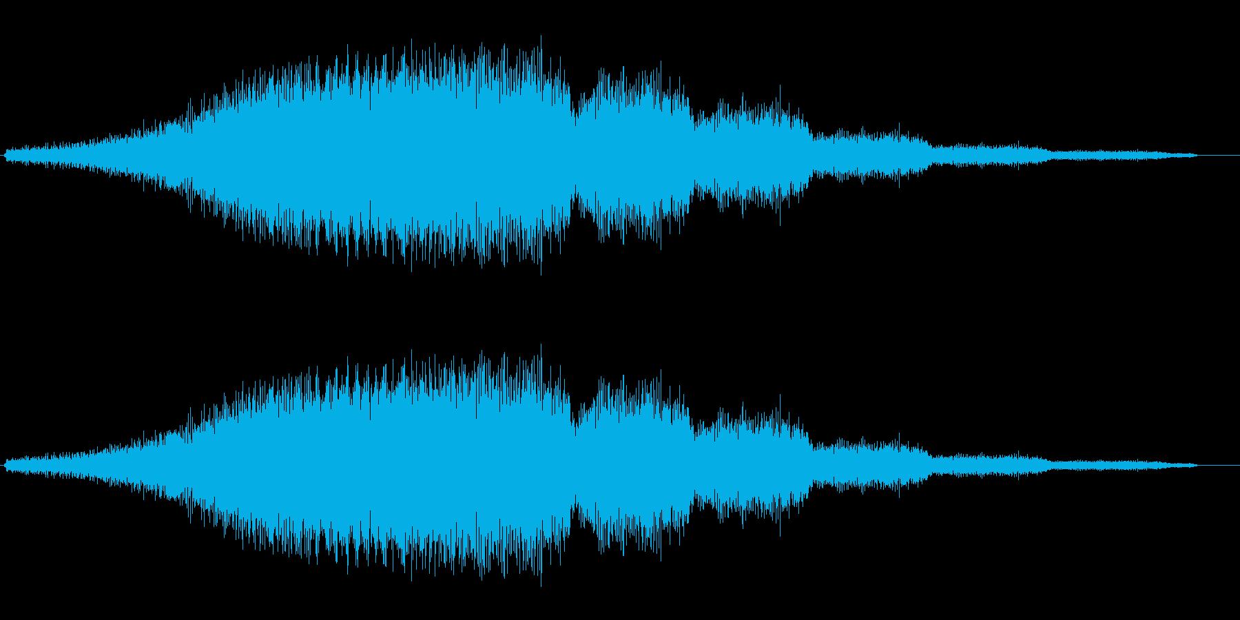 シャララ系ダウン(変化あり)の再生済みの波形