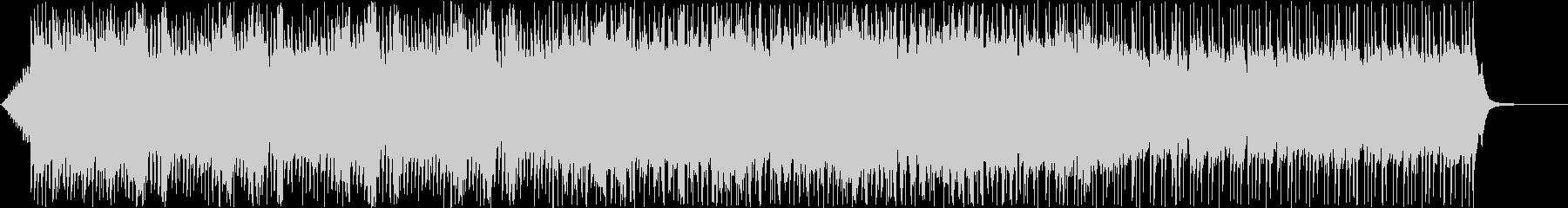 テクノのような電子音で疾走感のある音楽の未再生の波形