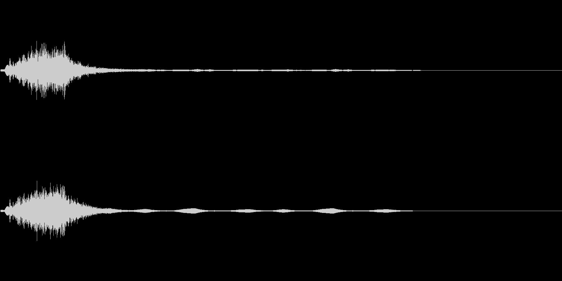 孤独なドローン、ライザー、光波、パルスの未再生の波形
