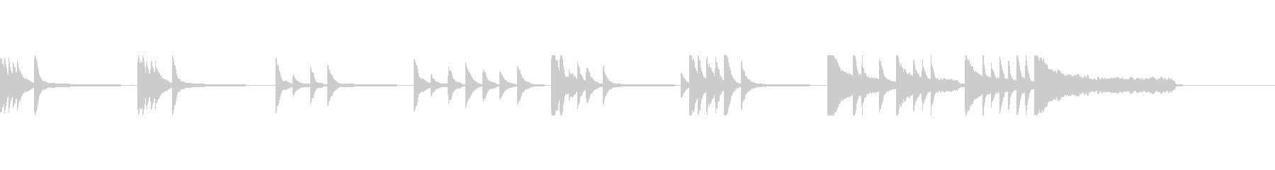 ピアノのシンプルなクリーンなBGMの未再生の波形