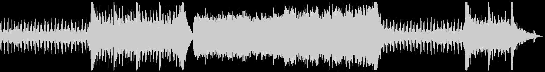 サスペンスが一気に急展開する曲の未再生の波形