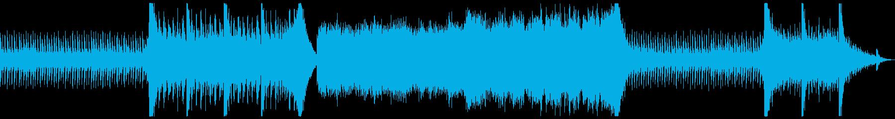 サスペンスが一気に急展開する曲の再生済みの波形