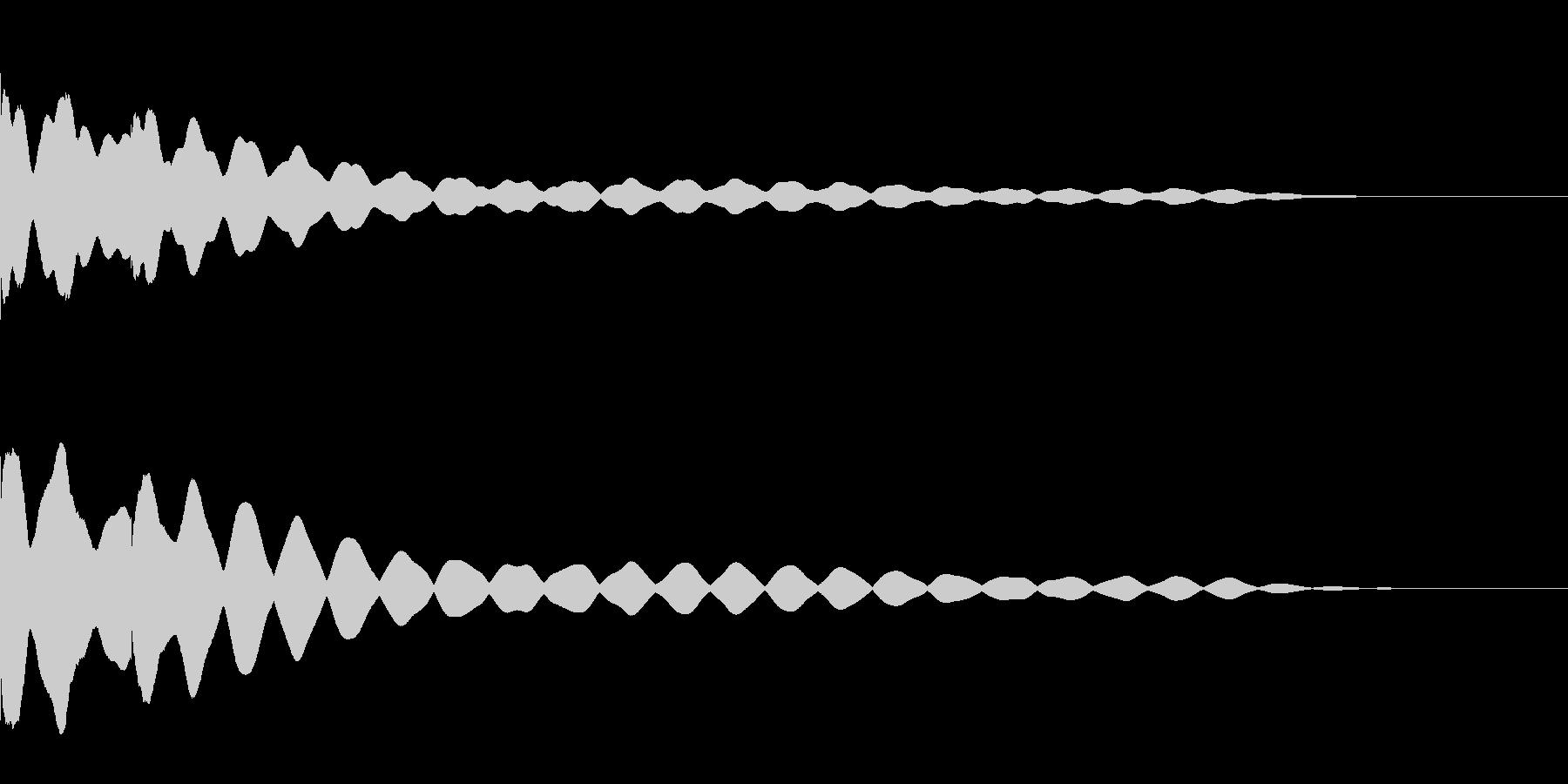 チーンチーン 仏壇の鐘の音2 リバーブ付の未再生の波形
