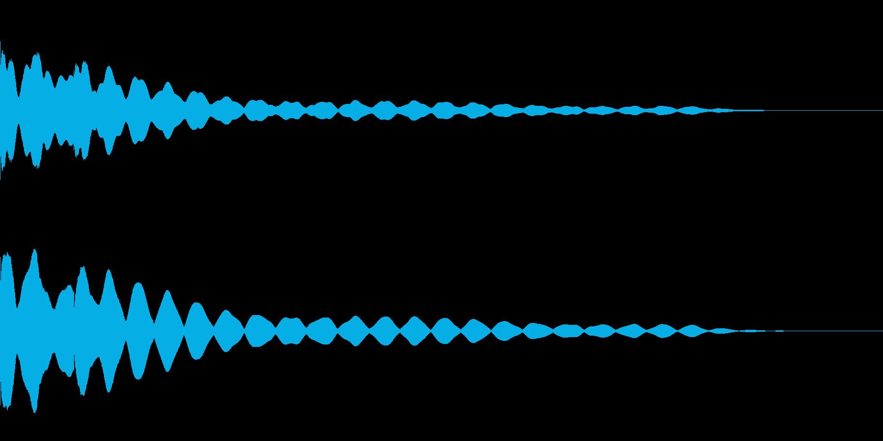 チーンチーン 仏壇の鐘の音2 リバーブ付の再生済みの波形