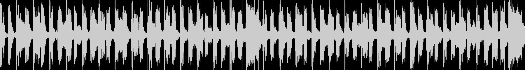 レトロでコミカルなシンセポップスの未再生の波形