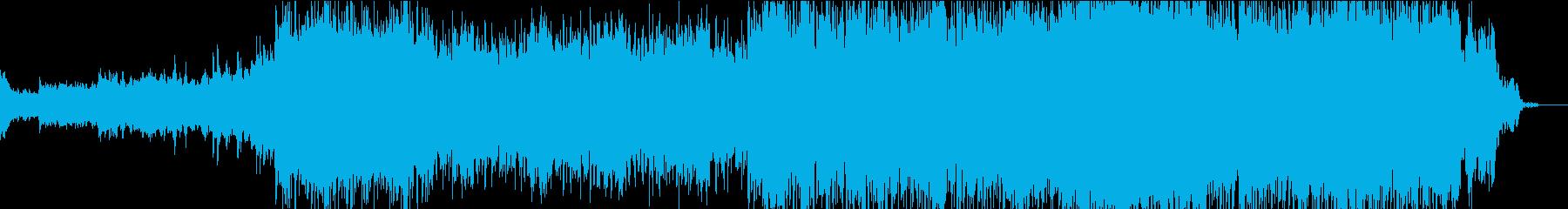 輝く宙空への旅立ちをイメージしたBGMの再生済みの波形