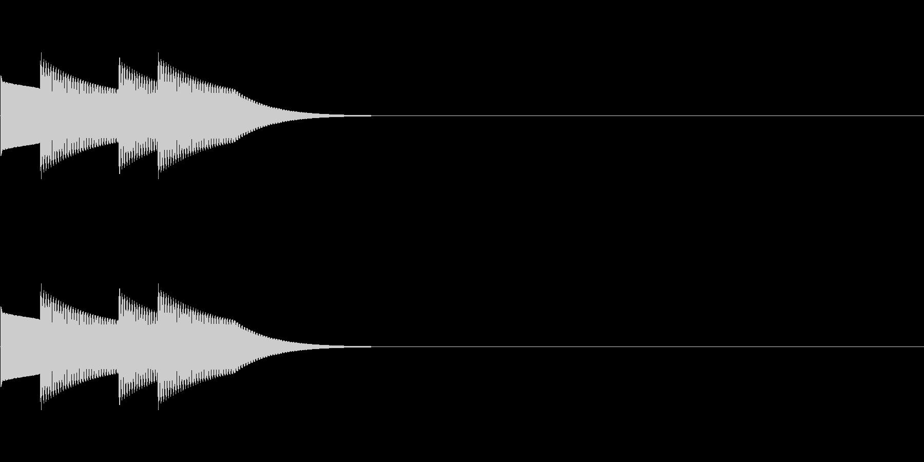 クイズの正解音01(ピンポンピンポン)の未再生の波形