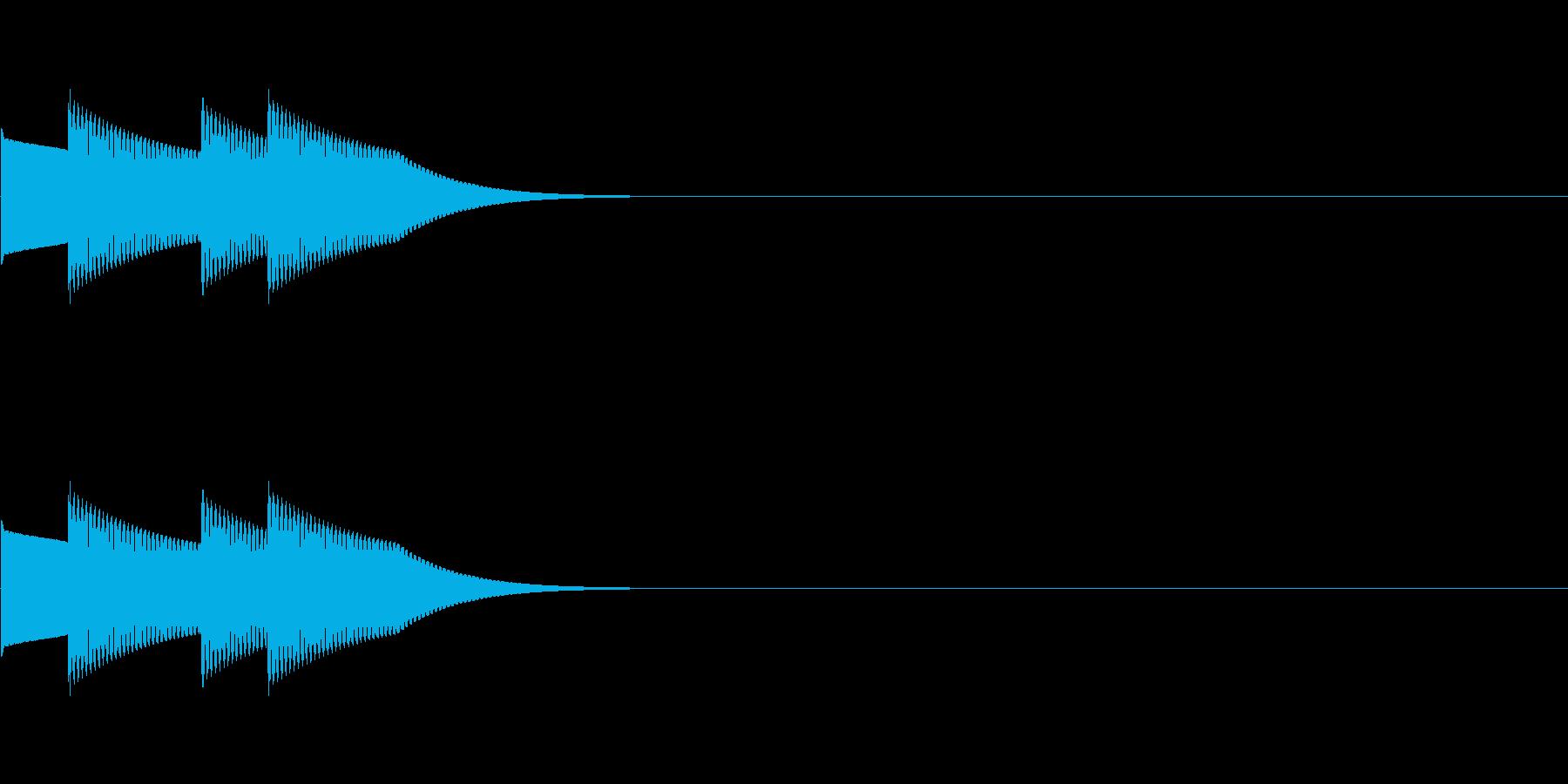 クイズの正解音01(ピンポンピンポン)の再生済みの波形