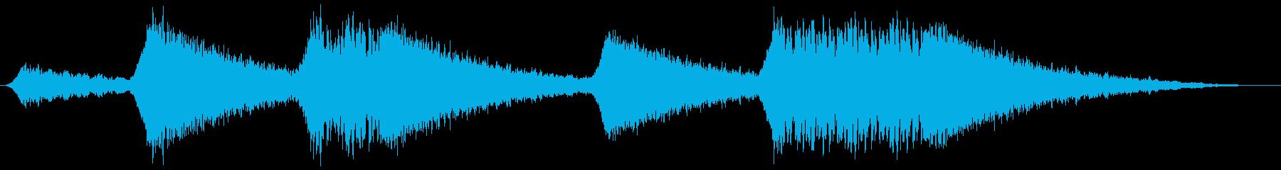 汎用サイレン 連続の再生済みの波形