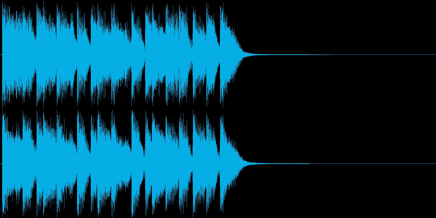 アイキャッチ・ピアノ・ジャズロックの再生済みの波形