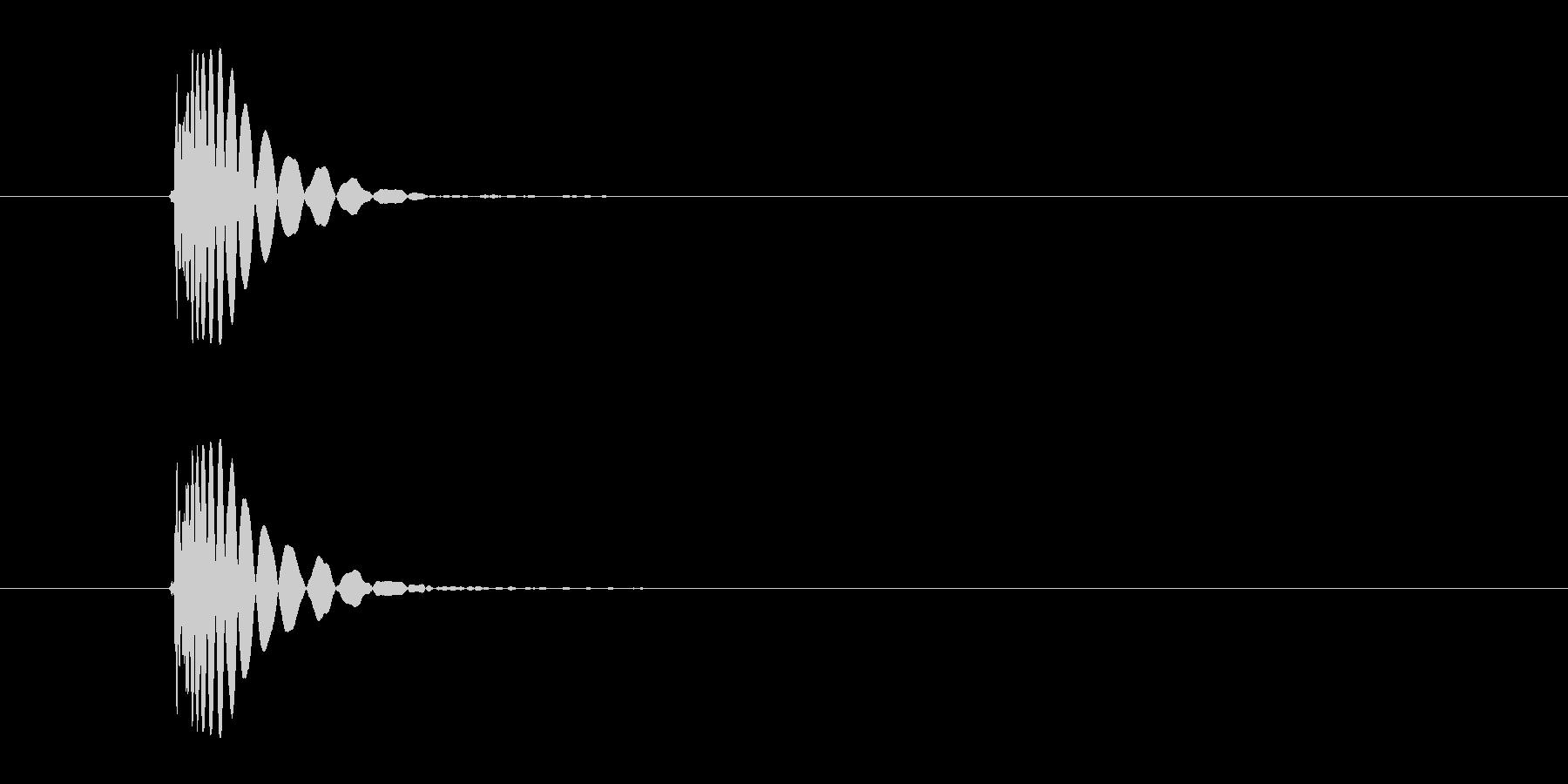 ヒット音(殴る 打撃のインパクト音)の未再生の波形