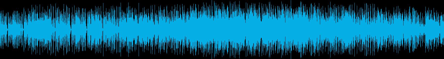 緊急事態のBGMの再生済みの波形