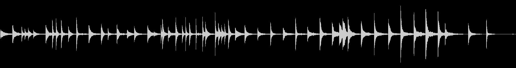 切ないシーンに間違いない ■ ピアノソロの未再生の波形