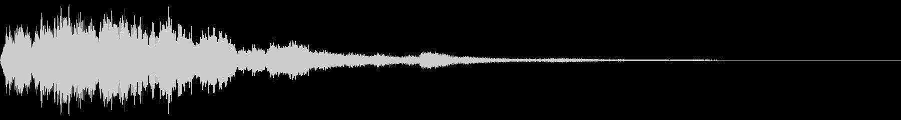 シャララン 上昇 短い ウィンドチャイムの未再生の波形