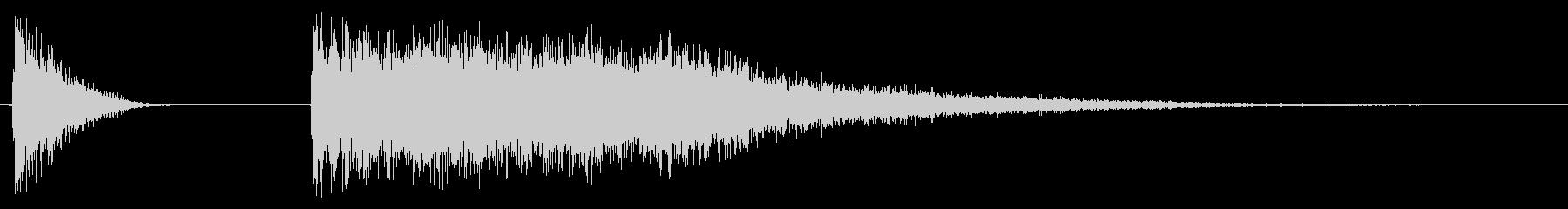ドラムのハイハット開閉音の未再生の波形
