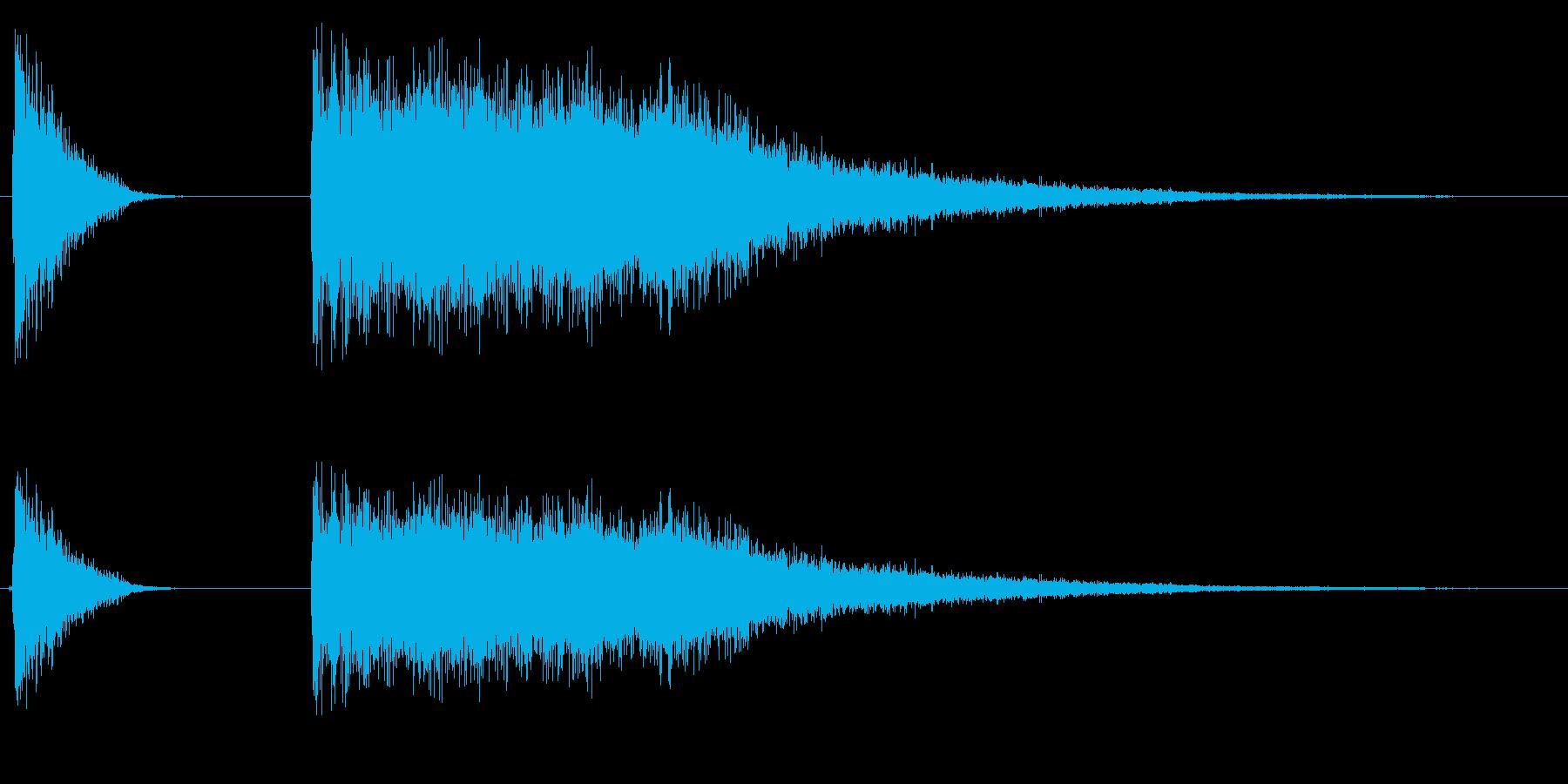 ドラムのハイハット開閉音の再生済みの波形