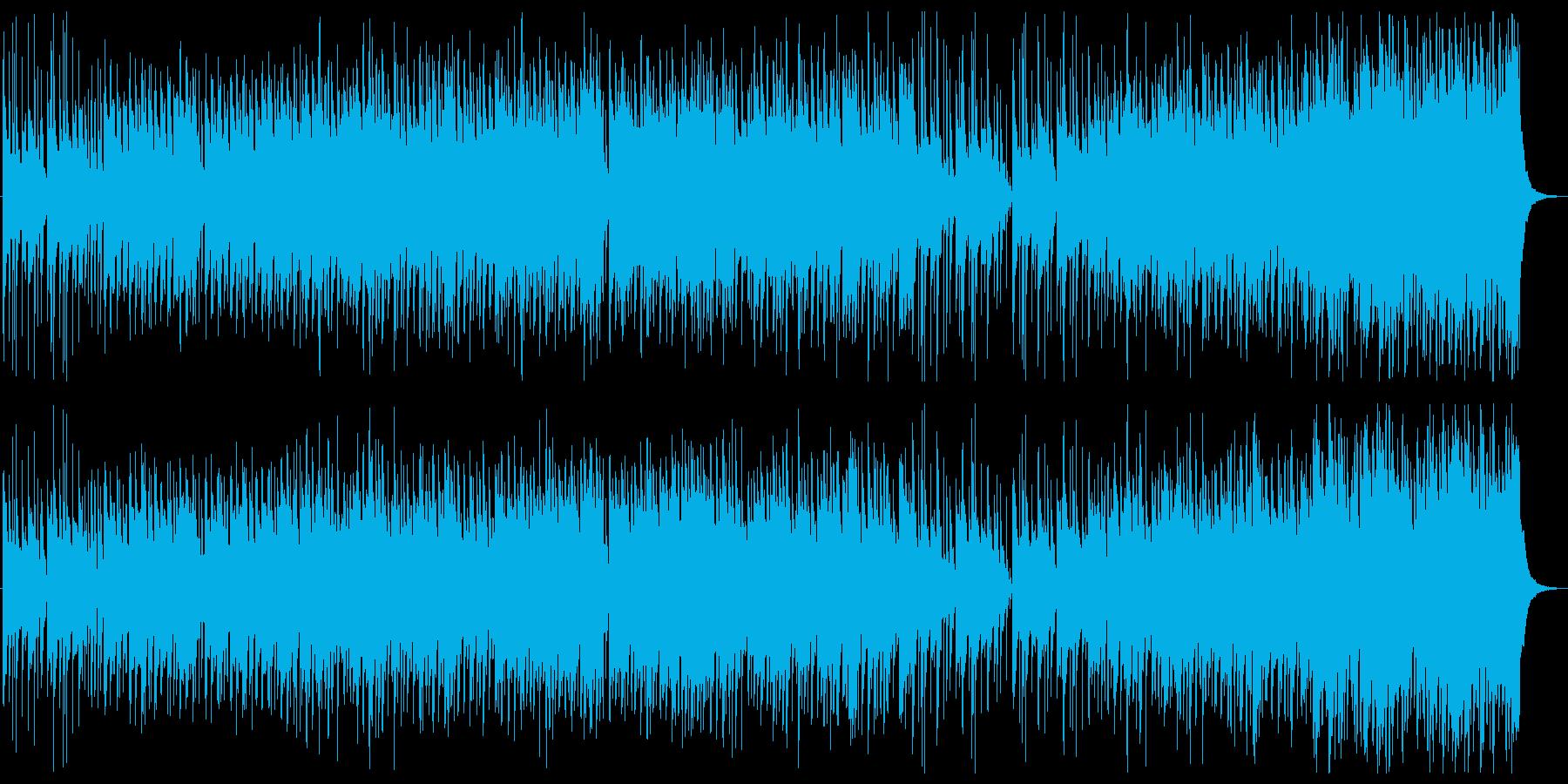 忍者っぽい和風楽曲の再生済みの波形