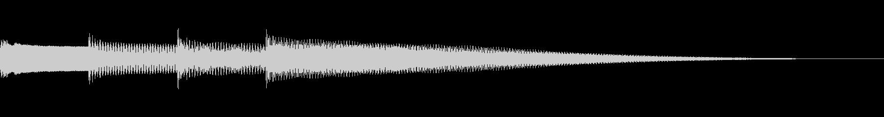 アナウンス 放送 ピンポンパンポン 開始の未再生の波形