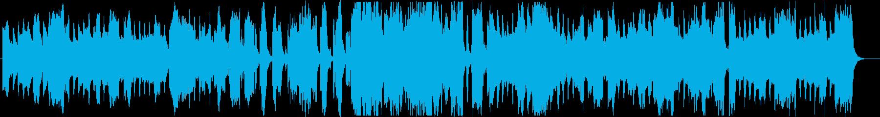 おばけホラーなBGM・ワルツ3拍子の再生済みの波形