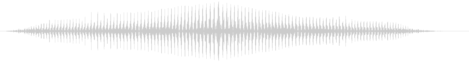 長いミュートされたおならの未再生の波形
