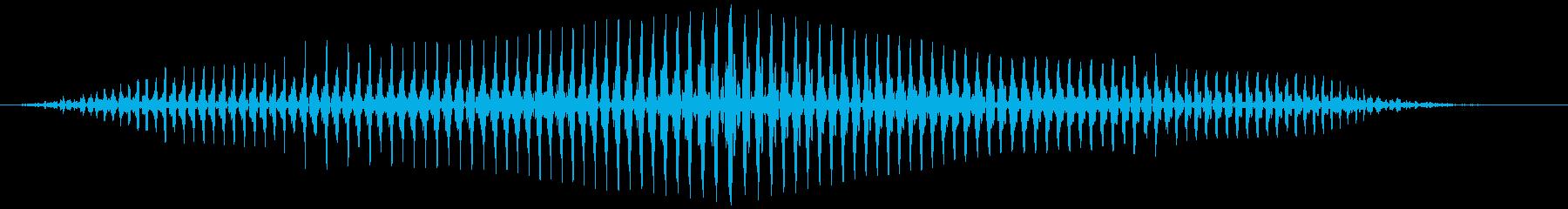 長いミュートされたおならの再生済みの波形