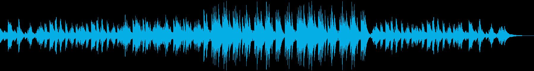 穏やかで温かいブライダルピアノ曲の再生済みの波形