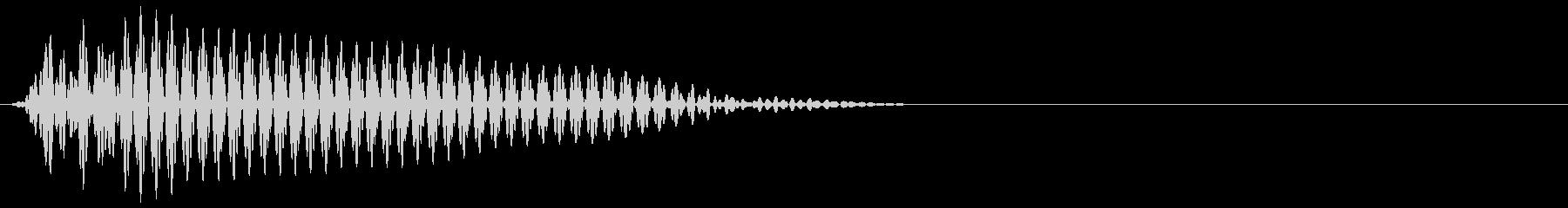 ゲーム掛け声ゾンビ1うめき3の未再生の波形