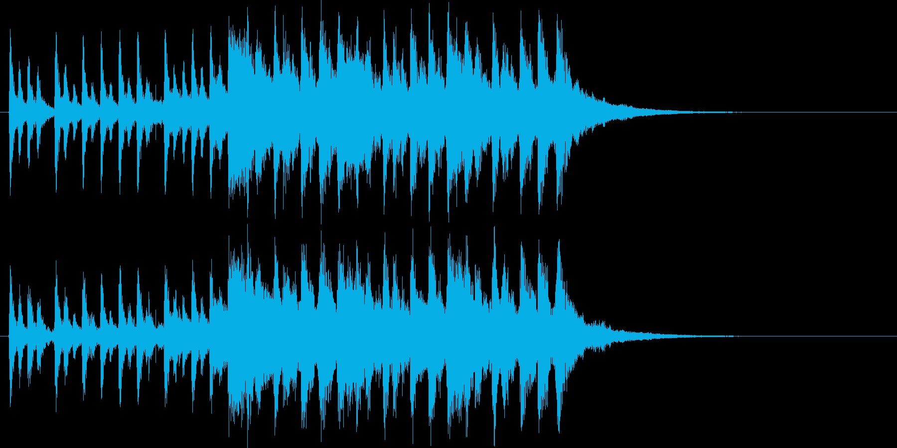 始まる雰囲気がする曲の再生済みの波形